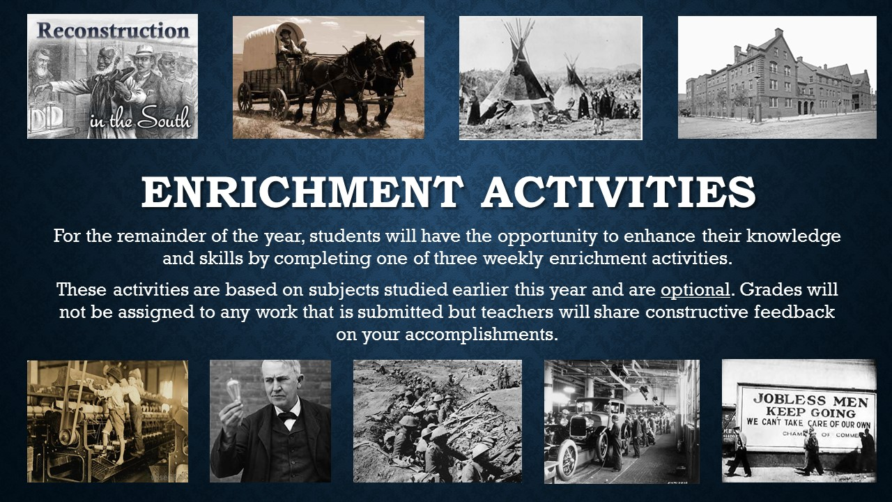 End of the year Enrichment Activities Information