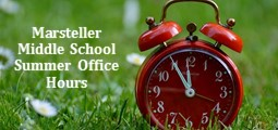 Marsteller Summer Office Hours