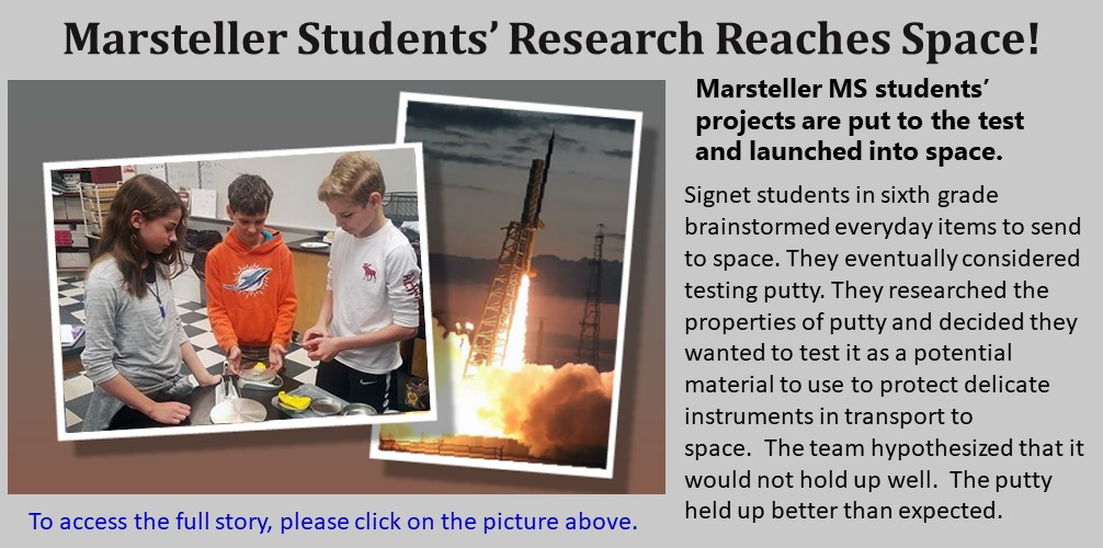 MMS Students reach space